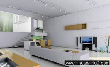 亚太室内设计另类大户型客厅效果图暖色电视墙