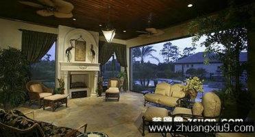 家庭室内装修设计图片之客厅装修图片:古典欧式客厅实景图