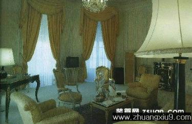 古典欧式客厅实景图暖色沙发