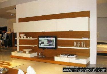 家庭室内装修设计图片之客厅装修图片:客厅实景图电视墙,客
