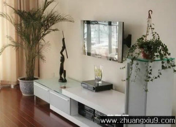 家庭室内装修设计图片之客厅装修图片:温馨客厅实景图电视