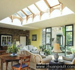 家庭室内装修设计图片之客厅装修图片:田园客厅实景图电视