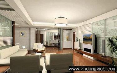 现代 复式客厅 效果图 电视墙 客厅 装修效果图