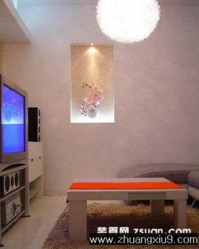 家庭室内装修设计图片之客厅装修图片:现代中式客厅实景图