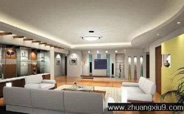 家庭室内装修设计图片之客厅装修图片:现代大户型客厅实景