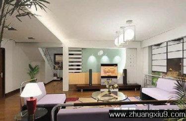 家庭室内装修设计图片之客厅装修图片:现代客厅效果图电视