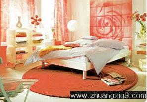 家庭室内装修设计图片之卧室装修图片:手机壁纸红色温馨韩
