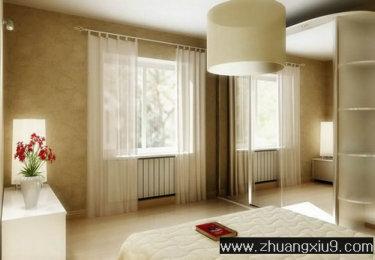 家庭室内装修设计图片之卧室装修图片:卧室壁纸灯具,卧室装