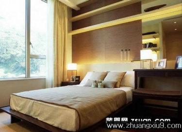 家庭室内装修设计图片之卧室装修图片:现代卧室实景图暖色