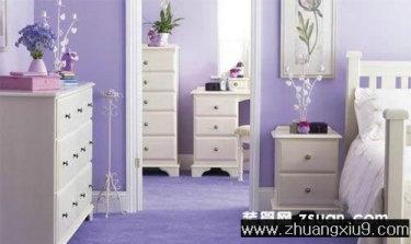 家庭室内装修设计图片之卧室装修图片:紫色韩式卧室装修图