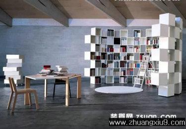 家庭室内装修设计图片之书房装修图片:手机壁纸现代大户型
