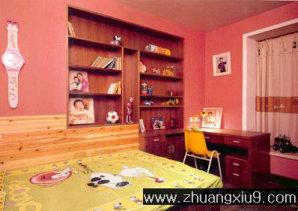 家庭室内装修设计图片之儿童房装修图片:粉色儿童房装修图