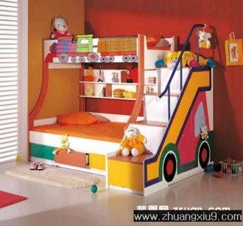 家庭室内装修设计图片之儿童房装修图片:可爱儿童房效果图