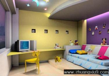 装修图片:亚太室内设计可爱中式复式儿童房效果图