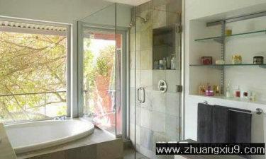 家庭室内装修设计图片之卫浴装修图片:田园美式卫生间实景