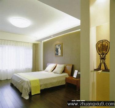 简约卧室装修图片米色床品