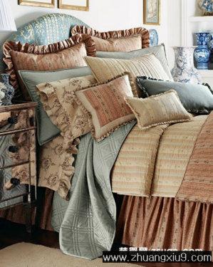 欧式床品_卧室装修效果图