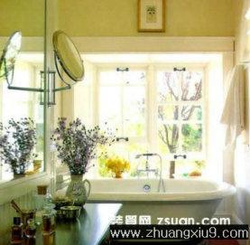 家庭室内装修设计图片之卫浴装修图片:田园卫生间实景图浴
