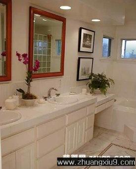 装修设计图片之卫浴装修图片:现代西班牙卫生间实景图洗手池,