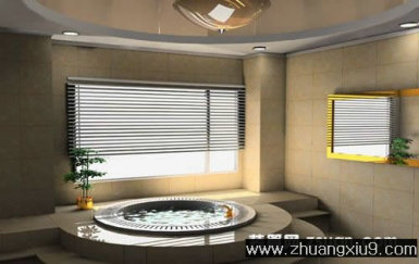 家庭室内装修设计图片之卫浴装修图片:现代卫生间实景图浴