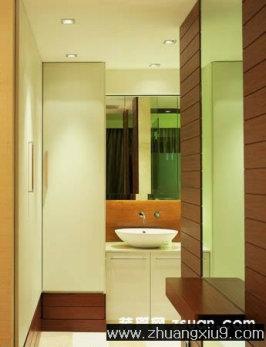 亚太中式卫生间装修图片洗手池