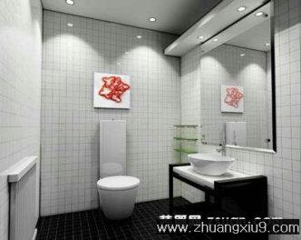 家庭室内装修设计图片之卫浴装修图片:白色简约卫生间装修高清图片
