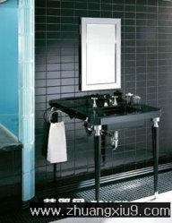 家庭室内装修设计图片之卫浴装修图片:黑色经典卫生间装修高清图片