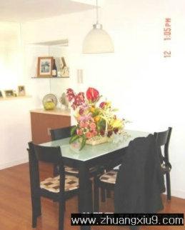 家庭室内装修设计图片之餐厅装修图片:温馨餐厅实景图餐台,
