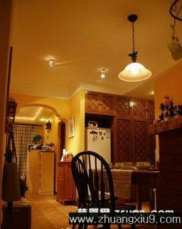 家庭室内装修设计图片之餐厅装修图片:温馨餐厅实景图储物柜,餐厅