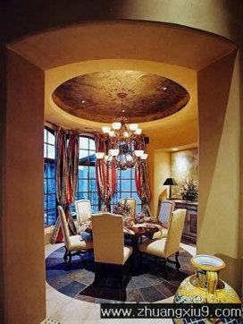 家庭室内装修设计图片之餐厅装修图片:豪华欧式餐厅