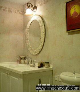 卫浴装修图片:温馨欧式卫生间实景图洗手池,洗手间装修图图片