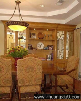 家庭室内装修设计图片之餐厅装修图片:西班牙餐厅实景图壁