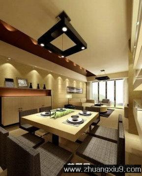 室内装修设计图片之餐厅装修图片:现代中式餐厅效果图暖色餐