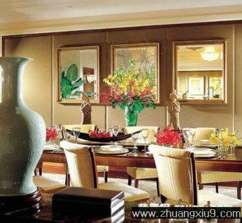 家庭室内装修设计图片之餐厅装修图片:现代中式餐厅实景图