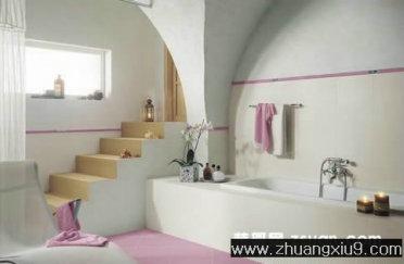 温馨卫生间实景图浴缸_卫浴装修效果图_第九装修网