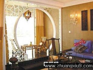 家庭室内装修设计图片之阳台装修图片:新中式阳台装修实景