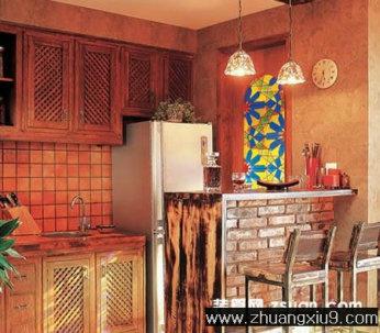 古典欧式大户型厨房实景图吧台