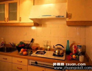 家庭室内装修设计图片之厨房装修图片:现代中式大户型厨房