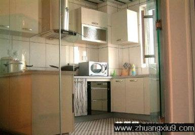 厨房装修图片现代中式中户型暖色橱柜