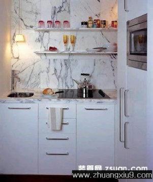 现代中户型厨房实景图暖色橱柜_厨房装修效果图_第九