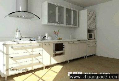 家庭室内装修设计图片之厨房装修图片:现代厨房效果图暖色
