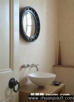 现代欧式卫生间实景图洗手池_卫浴装修效果图_第九