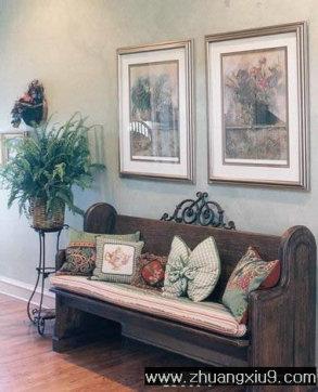 家庭室内装修设计图片之玄关装修图片:欧式玄关实景图沙发,