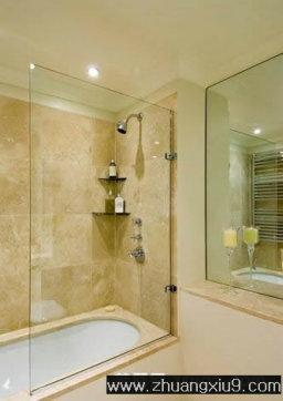 现代欧式中户型卫生间实景图浴缸 卫生间 装修实景 家庭室内装修设计