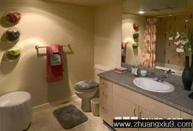 现代欧式卫生间实景图洗手池