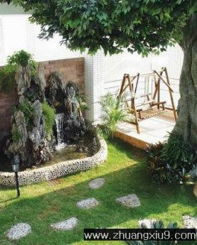 豪华欧式花园装修图片暖色休闲椅