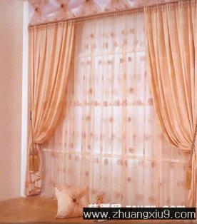 家庭室内装修设计图片之窗帘布艺图片:窗帘布艺图片柔媚千