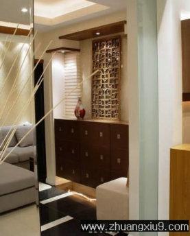 装修图片:亚太室内设计古典中式玄关实景图鞋柜,玄关装修图图高清图片