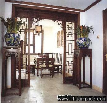 家庭室内装修设计图片之玄关装修图片:玄关中式家具装修实