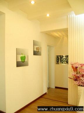 家庭室内装修设计图片之玄关装修图片:壁画玄关装饰装修图